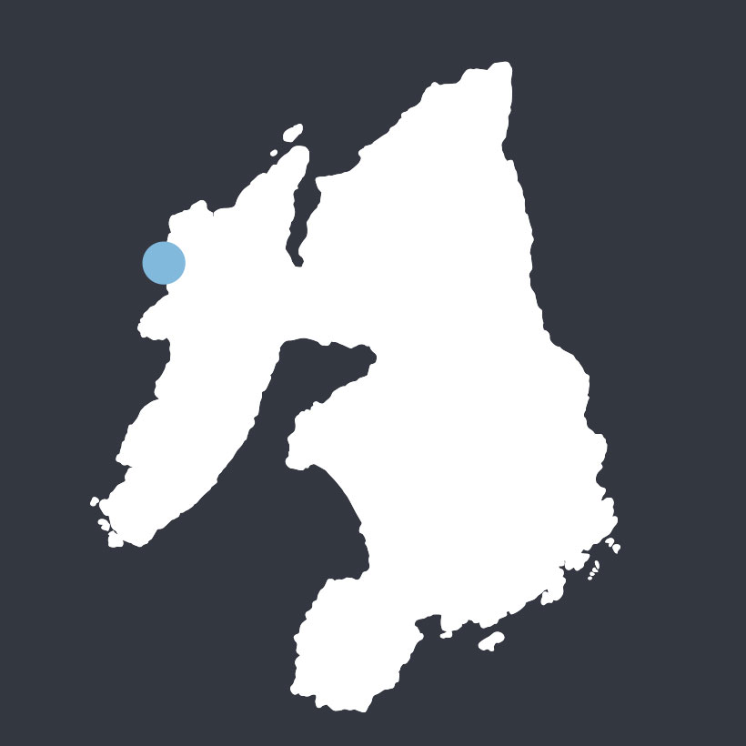 Dun Bheolain map