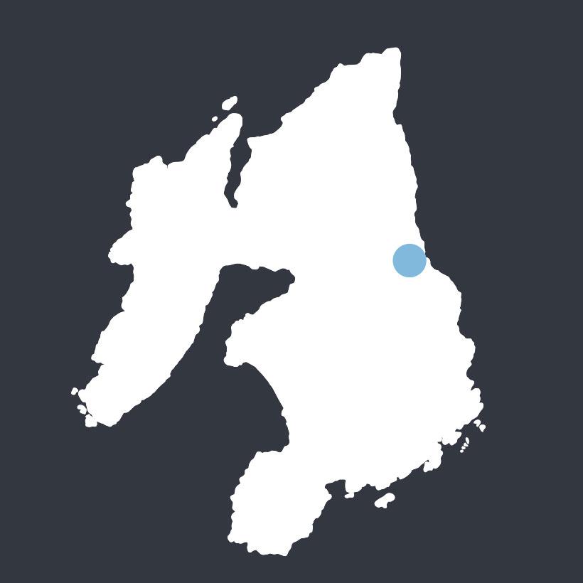 Dun Bhoraraig map