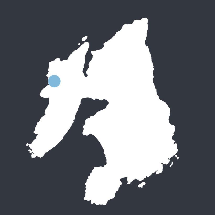 Kilchoman map